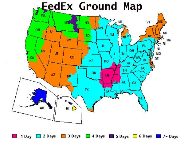 fedex map-hubspot